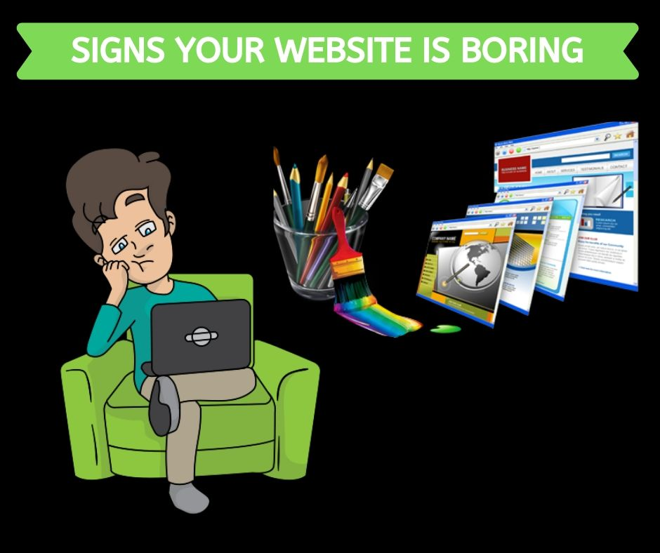 Signs your website is boring